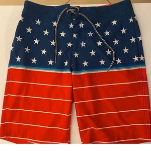 Red, White and Blue Board Shorts
